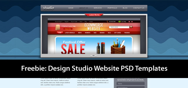 Studio Website PSD Template