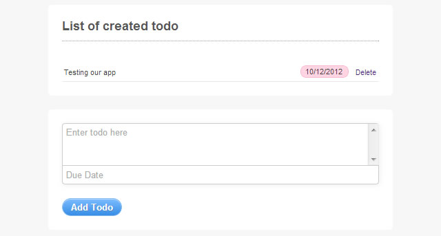 ToDo App preview screenshot
