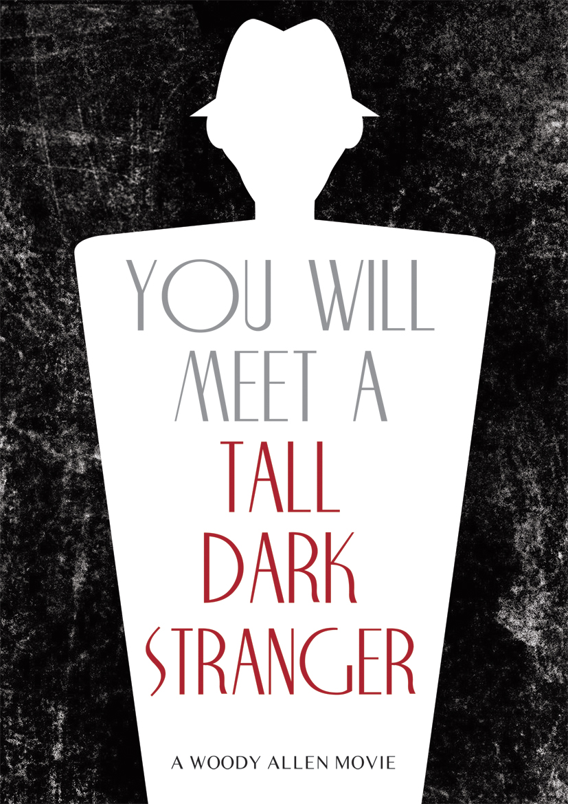 you will meet a tall dark stranger movie poster by woody allen