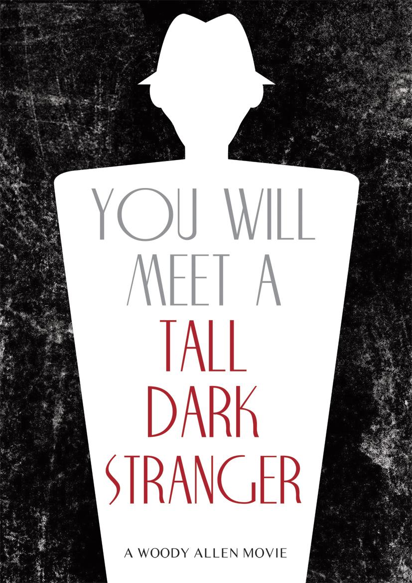 you will meet a tall dark stranger movie poster by woody allen
