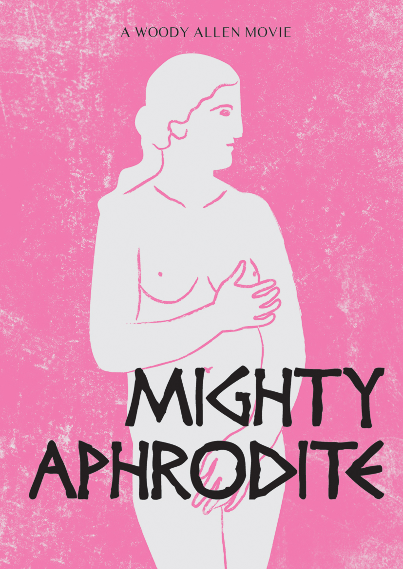 mighty aphrodite movie poster by woody allen