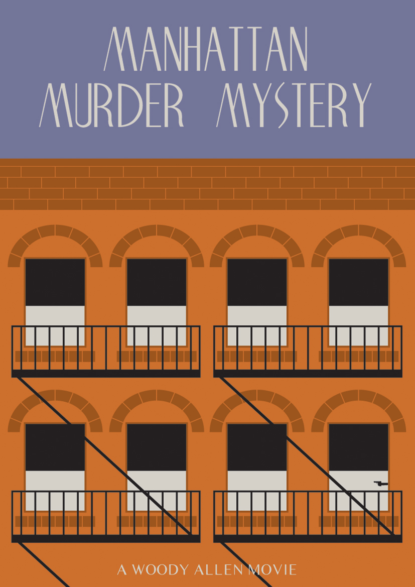 manhattan murder mystery movie poster by woody allen