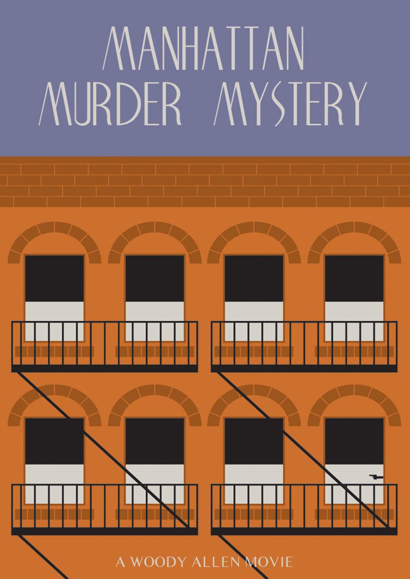 manhattan murder mystery movie poster by woody allen