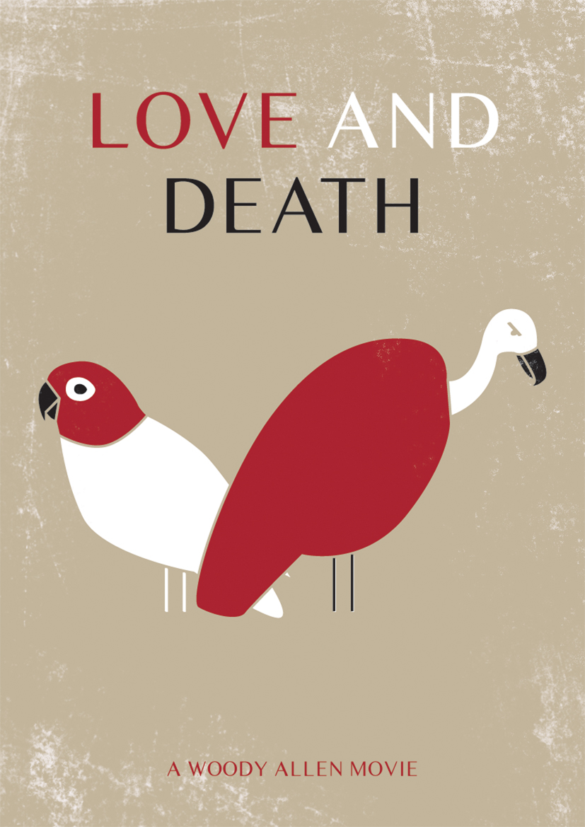 love and death movie poster by woody allen