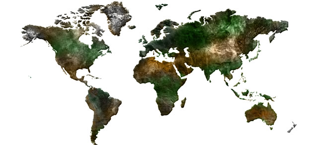 World Map template source PSD