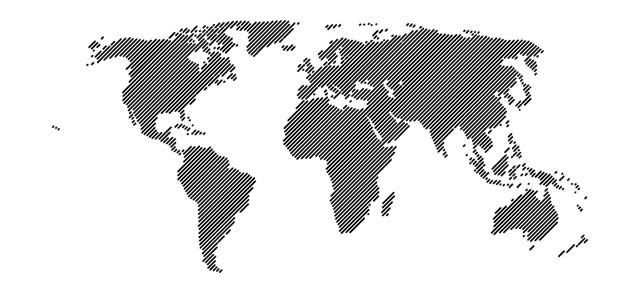 world map 45 lines vector template eps