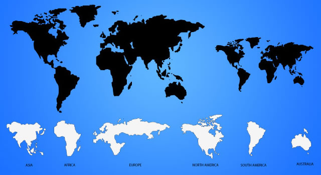 World Map template ai eps