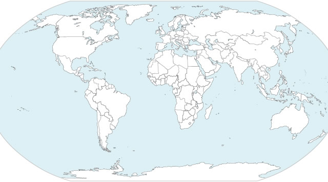 HighQuality Free World Map Templates - Map of countries of the world