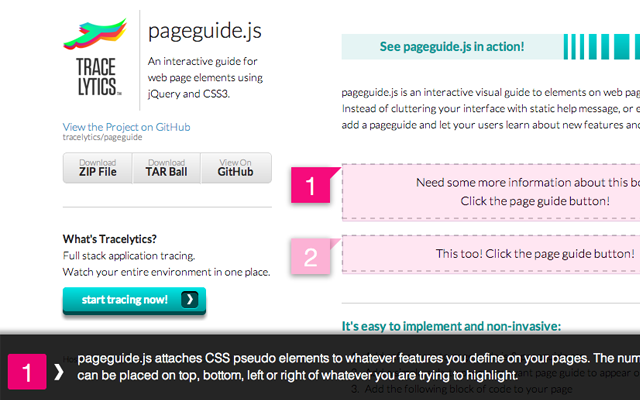 pageguide.js javascript open source library