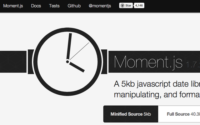Moment.js JavaScript library open source code download