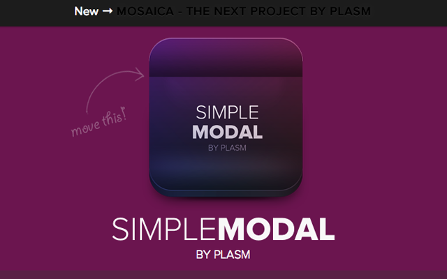 simple modal window mootools javascript js library