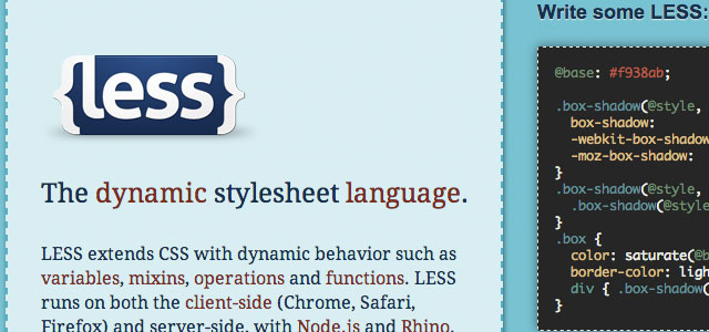 ESS and SASS are CSS preprocessors that add a bunch of extra features