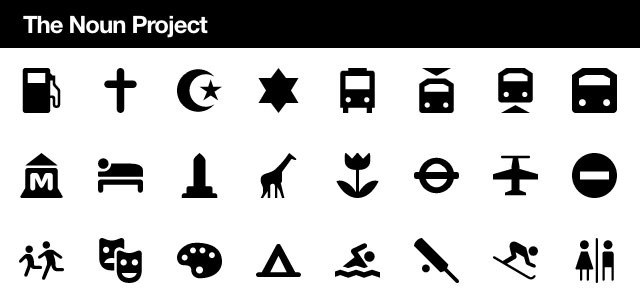 The Noun Project, what visual metaphor best represents a word
