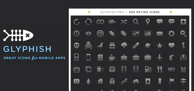 Glyphish is an icon set originally created for tab bars in iOS applications