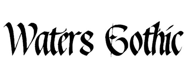 Waters Gothic Is A Free Font For Designers