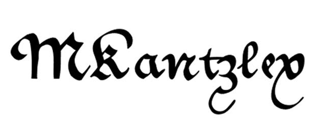 MKantzley is a free gothic font for designers