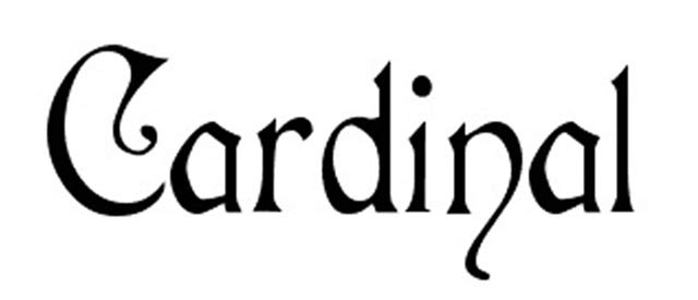 Cardinal is a free gothic font for designers