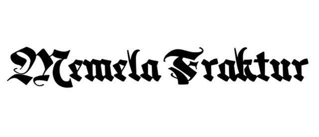 Memela Fraktur is a free gothic font for designers
