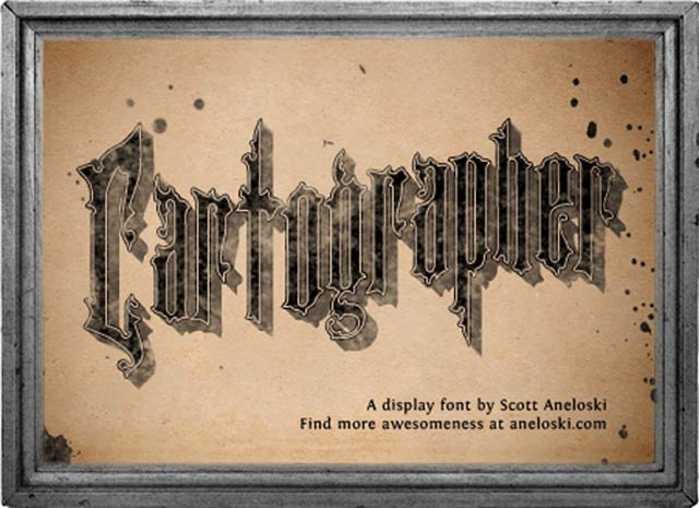 Cartographer is a free gothic font for designers