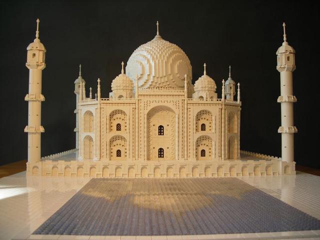 Lego Taj Mahal sculpture