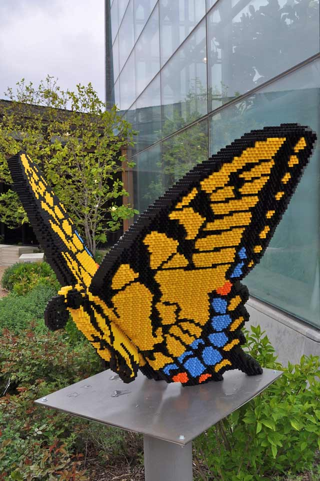 Butterfly Lego sculpture