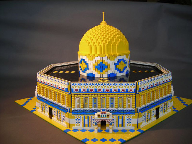 Dome of the Rock Lego sculpture