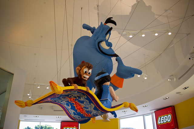 Disney in Lego sculpture