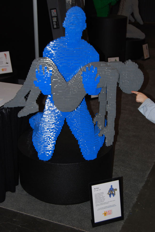 Legos sculpture