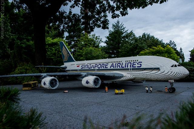 Lego A380 plane sculpture