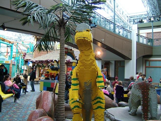 Lego dinosaur sculpture