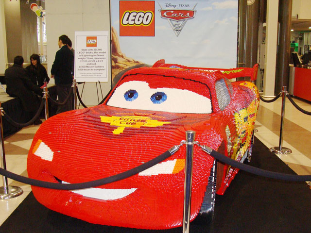 Lightning McQueen sculpture