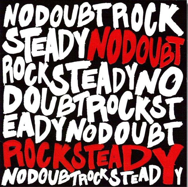 Rock Steady example typography cover of cd design