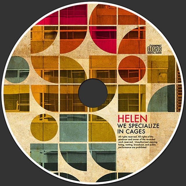 Helen cd example typography cover of cd design