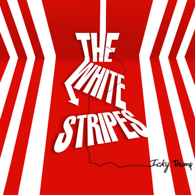 The White Stripes example typography cover of cd design