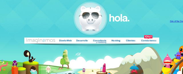 Imaginamos as an example of a site that uses illustrated landscapes
