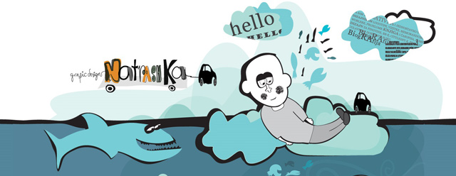 Natrashka as an example of a site that uses illustrated landscapes
