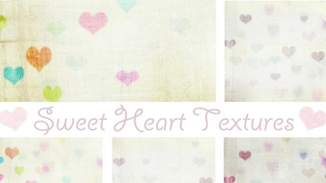 Vintage Sweet Heart 9 Textures