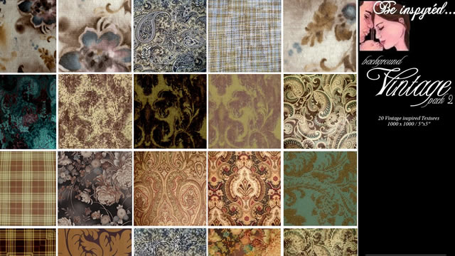 Vintage Background Textures Pk2 20 Textures