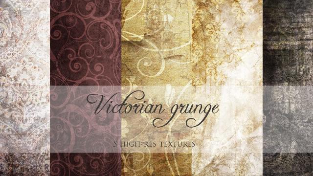 Victorian Grunge Texture Pack 5 Textures