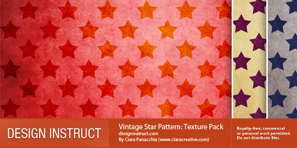 Vintage Star Pattern 3 Textures