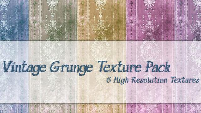 Vintage Grunge Texture Pack 6 Textures