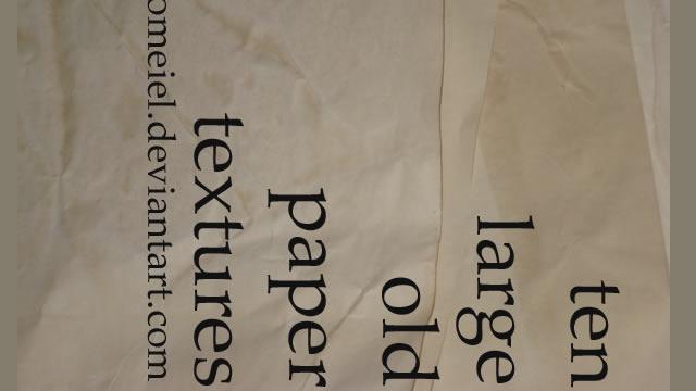 Old Paper Textures 10 Textures