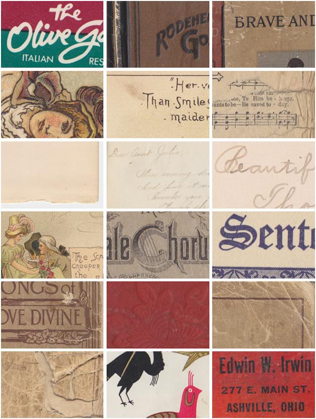 Vintage Book Textures 18 Textures