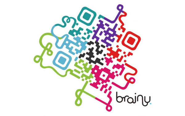 Brainy example of QR codes