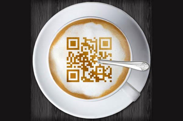 Coffee inspirational QR code