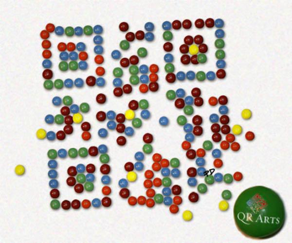 M&MS inspirational QR code