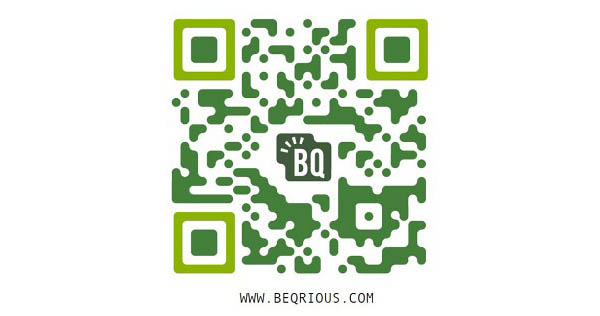 BQ beautiful QR code example
