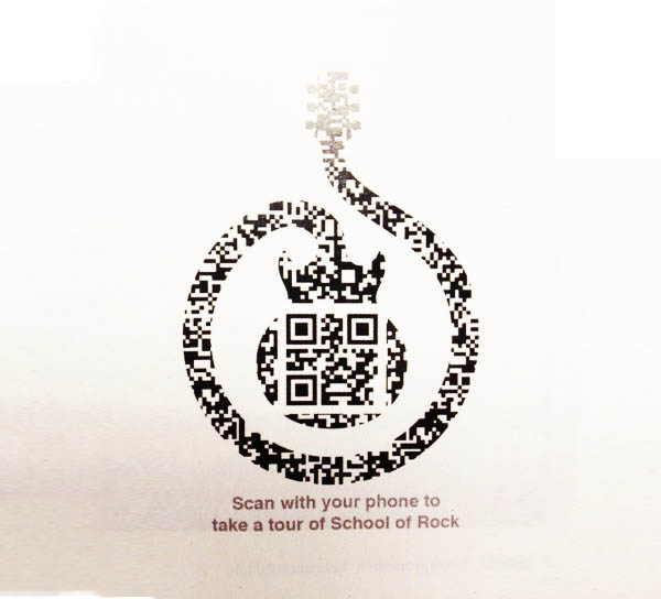 School Of Rock beautiful QR code example