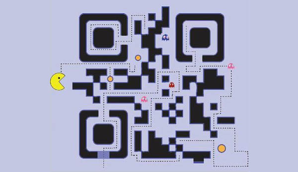 Pacman designed QR code for functionality