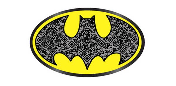 Batman designed QR code for functionality